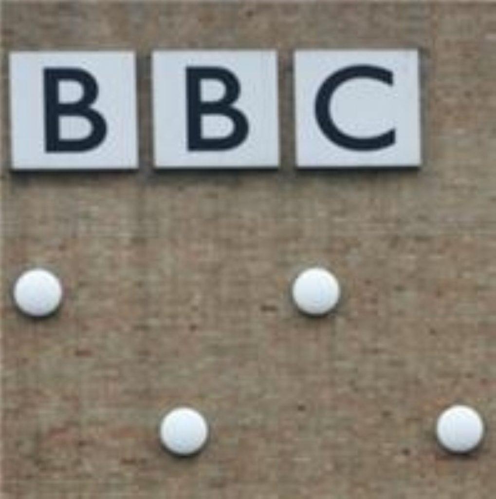 BBC behind a brick wall