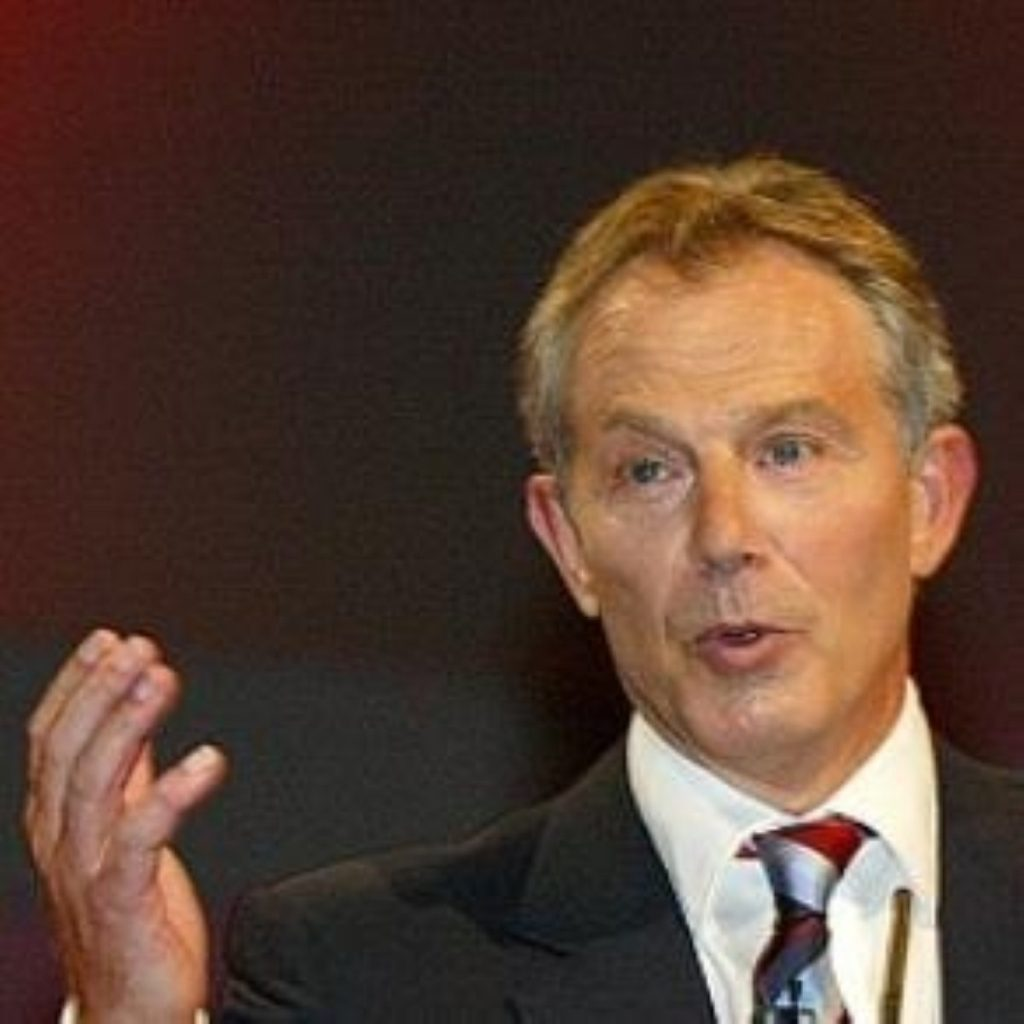 Mr Blair continues to defend his successor