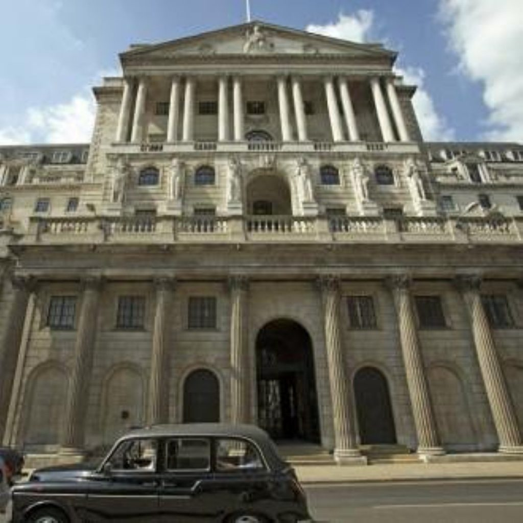 Bank of England governor Mervyn King remains fixed on long-term inflationary stability