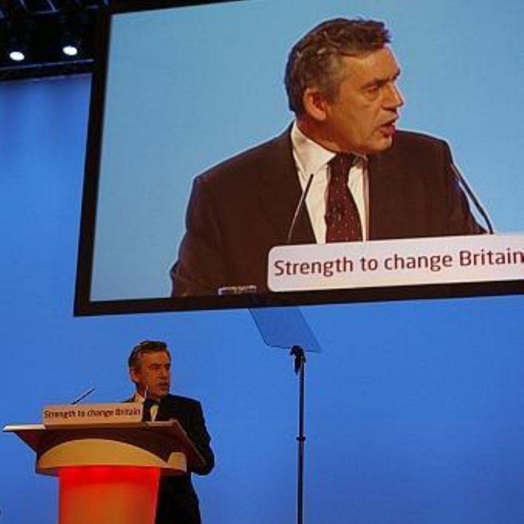 Brown addresses conference delegates in 2007