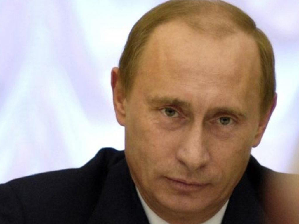 Hard man: The Russian president cultivates a tough image in Russia.