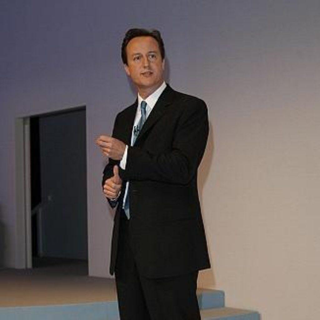 David Cameron's party receiving positive polling reaction