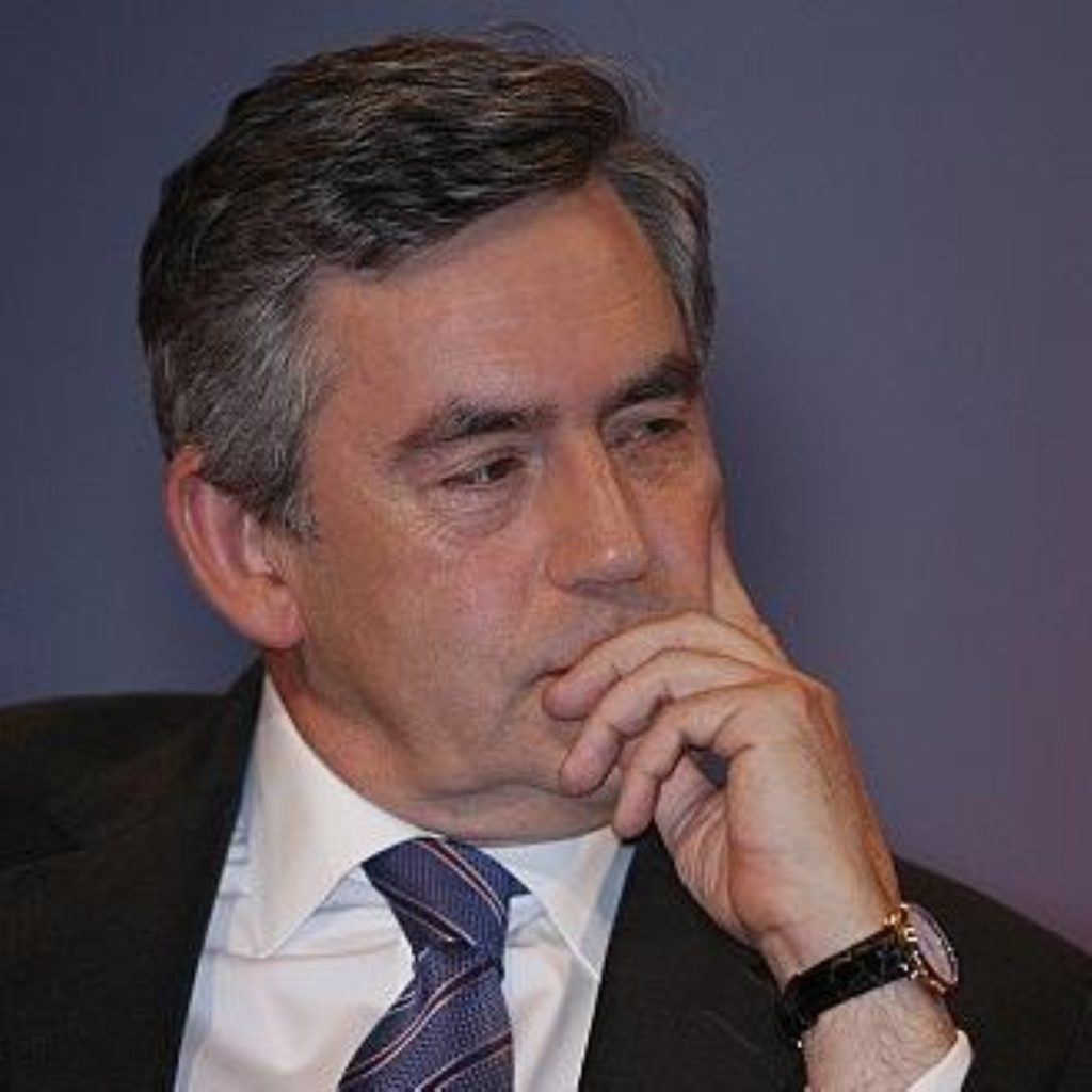 """Gordon Brown says he is """"getting on with the job"""""""