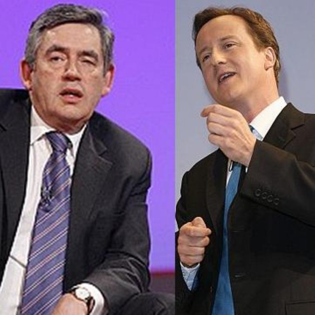 Brown vs Cameron: But playing it tough is 'counterproductive'