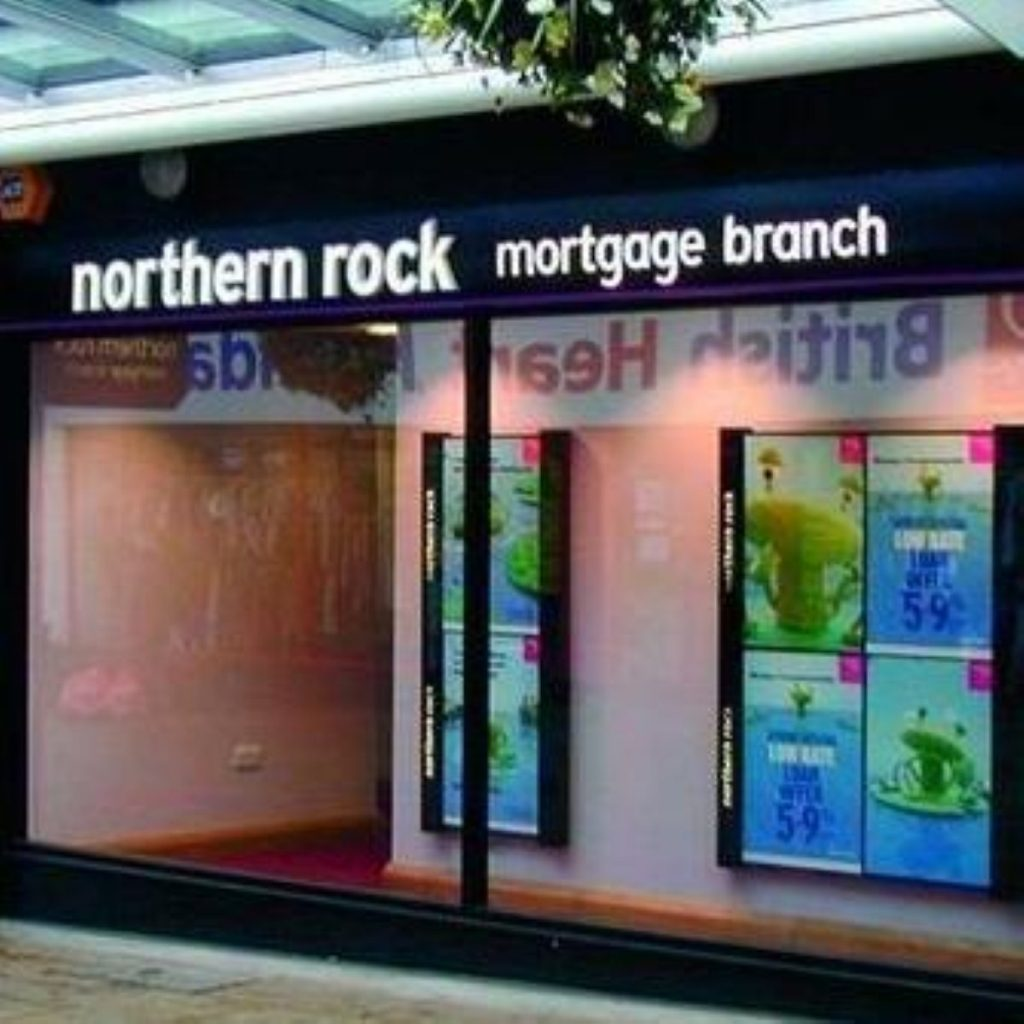 Northern Rock reveals losses of £167.6 million.
