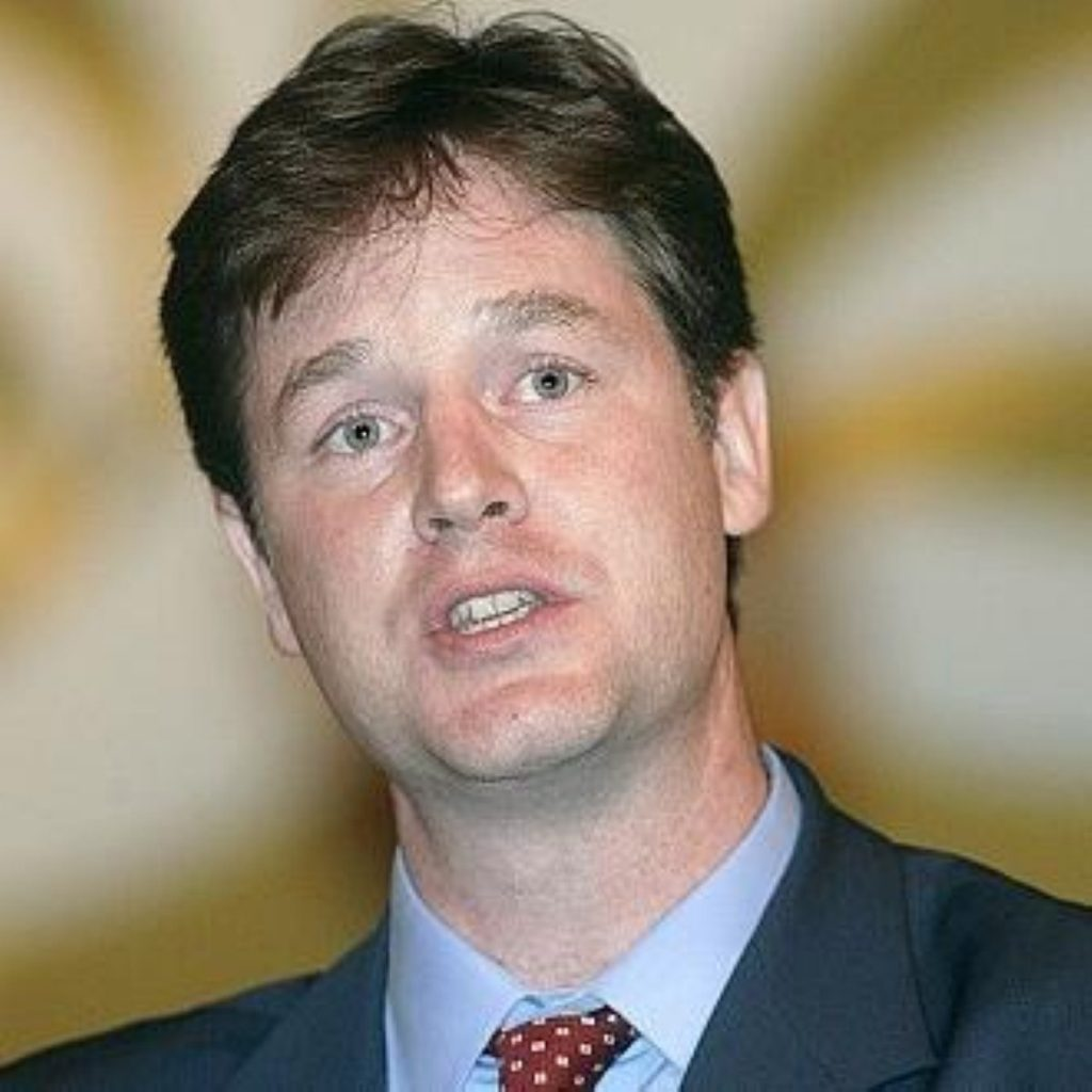 Mr Clegg's wants to make the most of Labour's woes