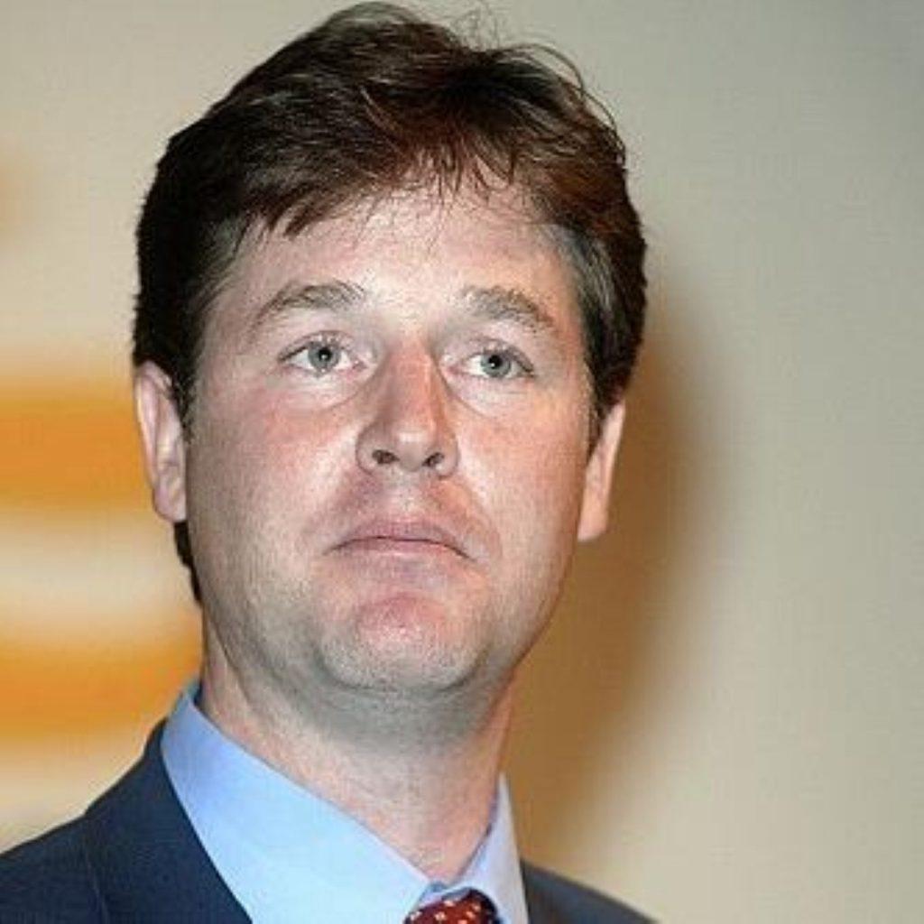"Clegg says EU treaty vote would be a ""smokescreen"""