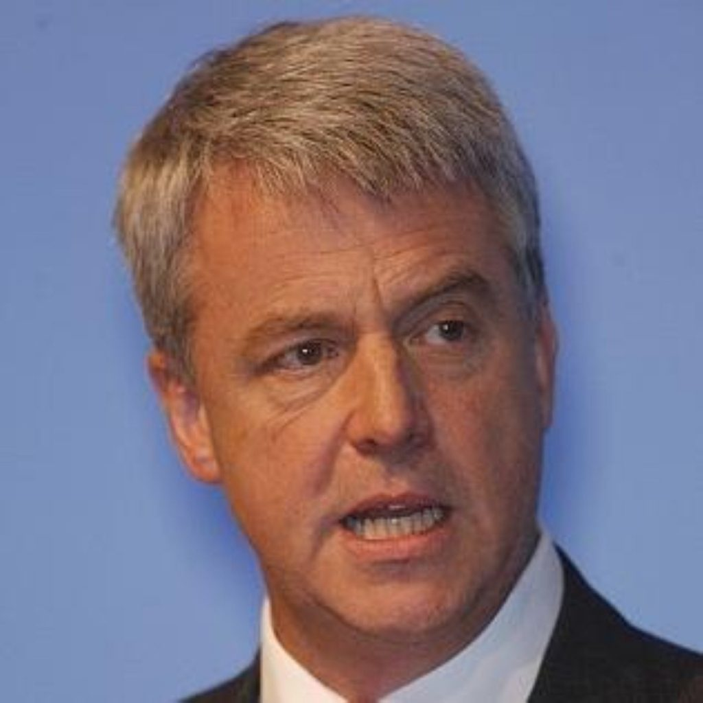 The Tories will cut £1.5 billion from the NHS in efficiency savings, Andrew Lansley has announced to the Tory party conference.