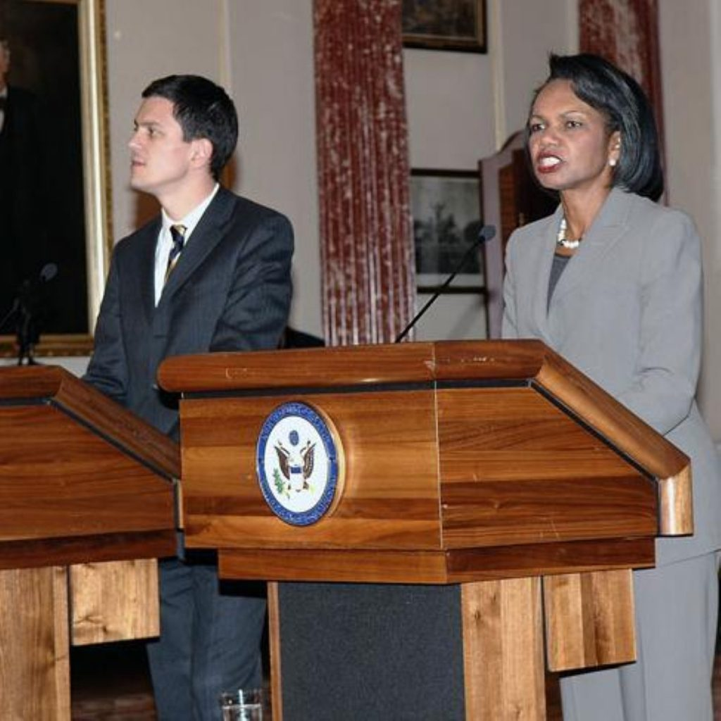 David Miliband and Condoleezza Rice are currently in Afghanistan
