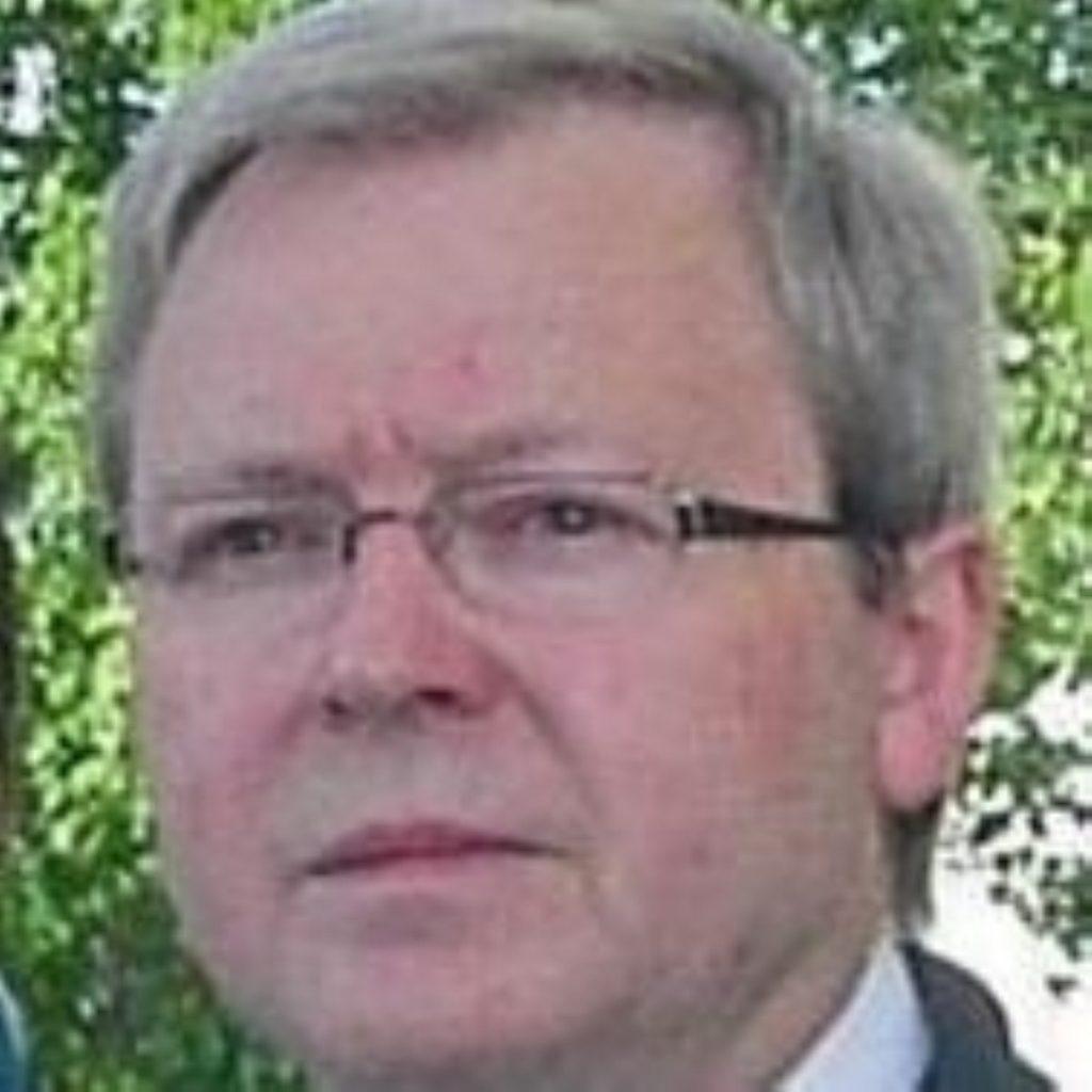 Kevin Rudd praises Gordon Brown's vision