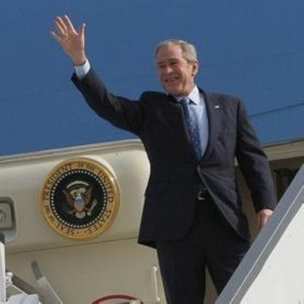 George Bush on his farewell trip to Europe