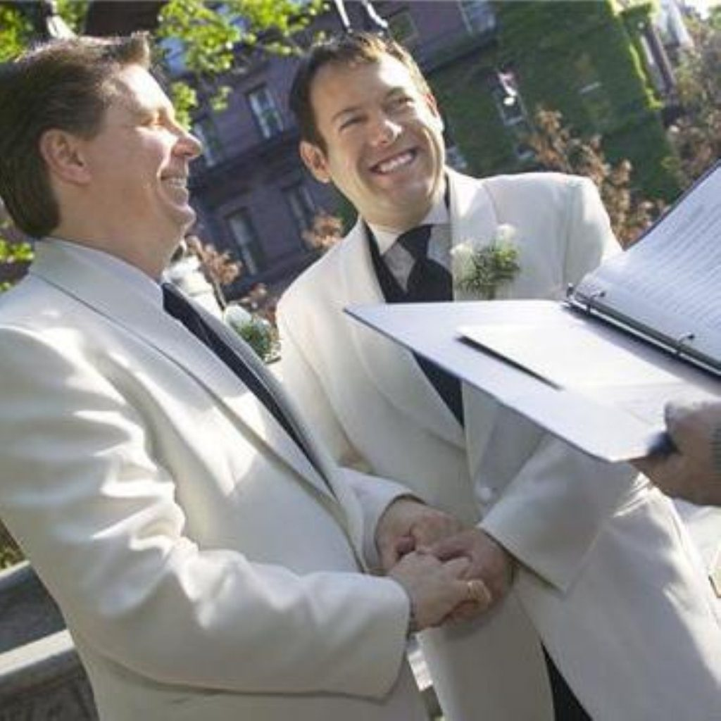 A same-sex wedding