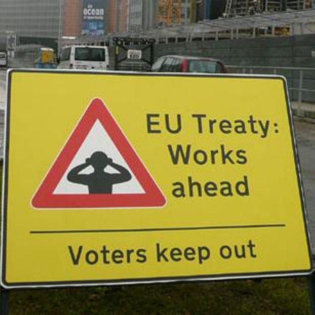 Protestors have urged MPs to back a referendum