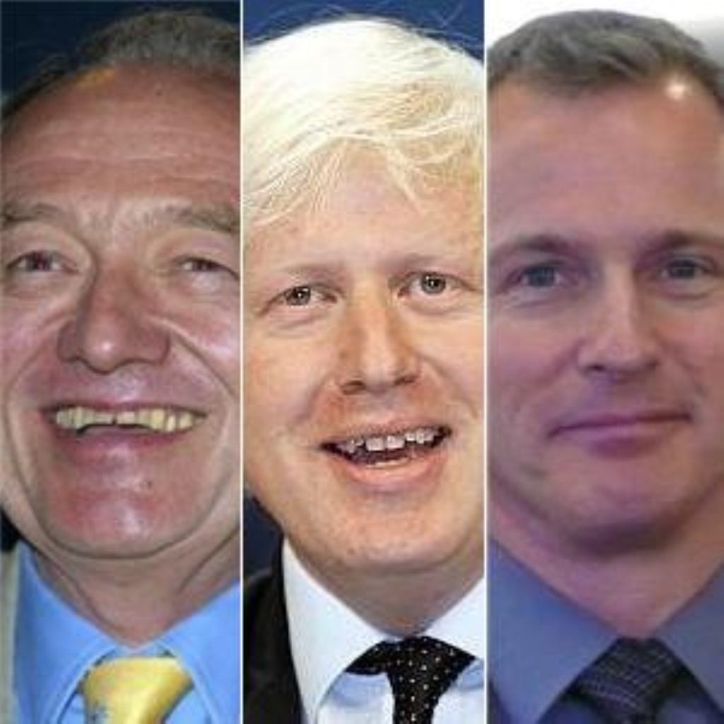 Johnson sees election lead cut in half