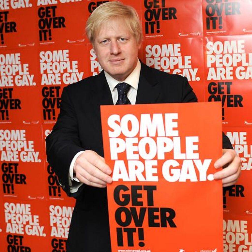 Boris Johnson at the Stonewall hustings