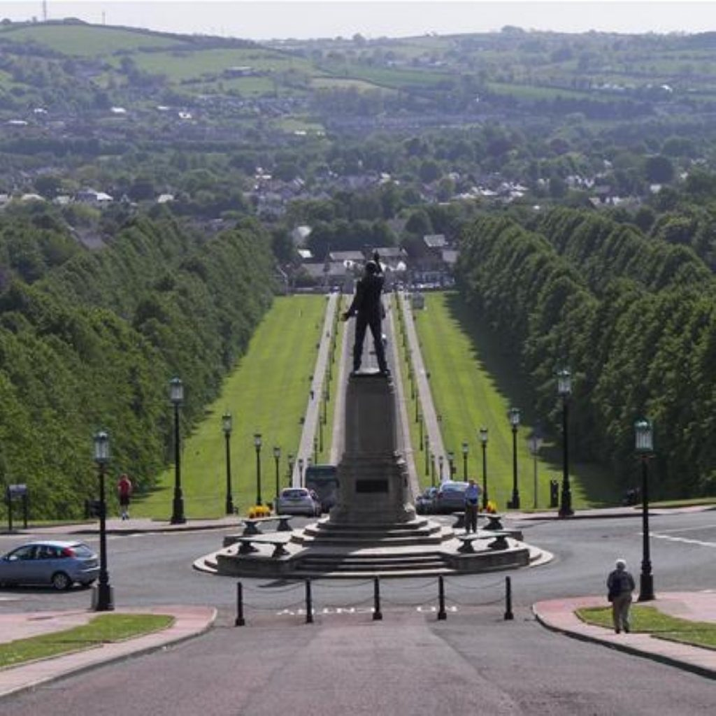 The view from Stormont. Negotiations have continued throughout the week.