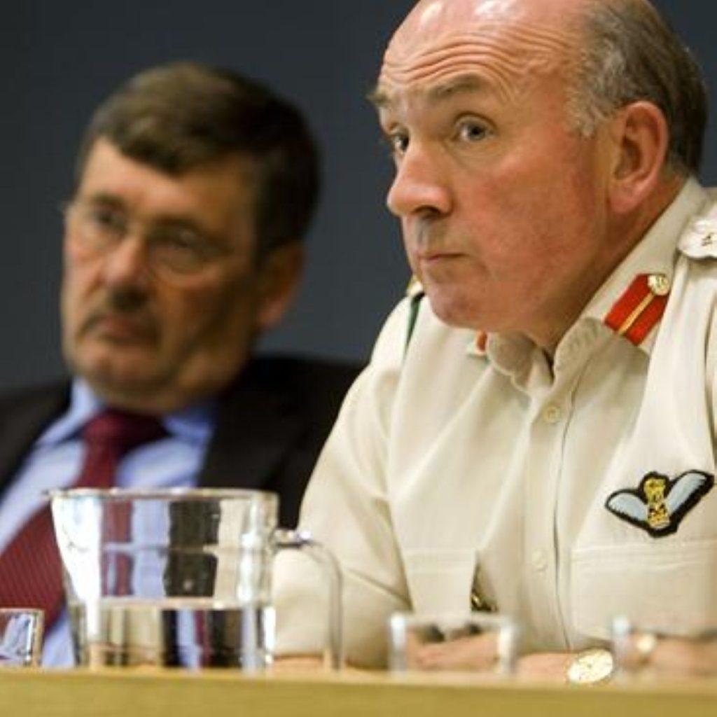 Richard Dannatt (r) may join a future Tory government