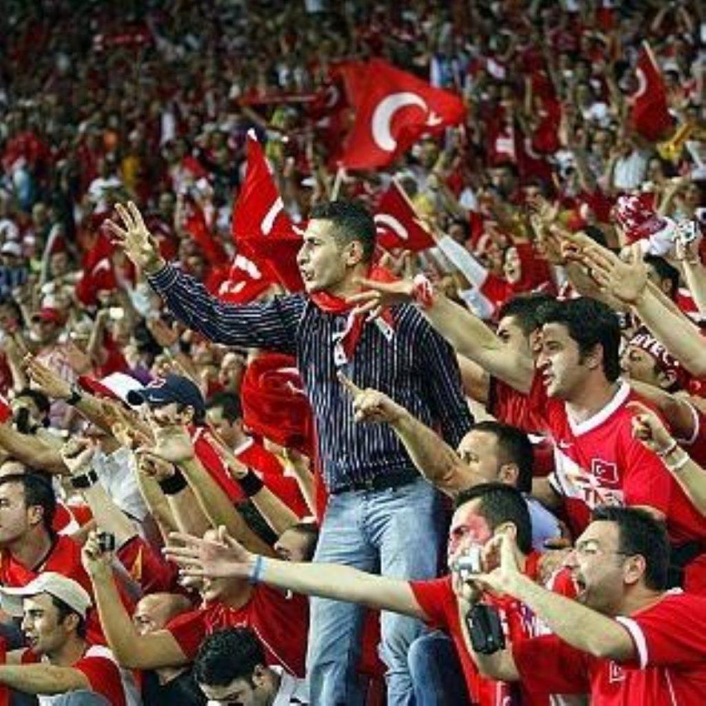 Turkey football fans at Euro 2008