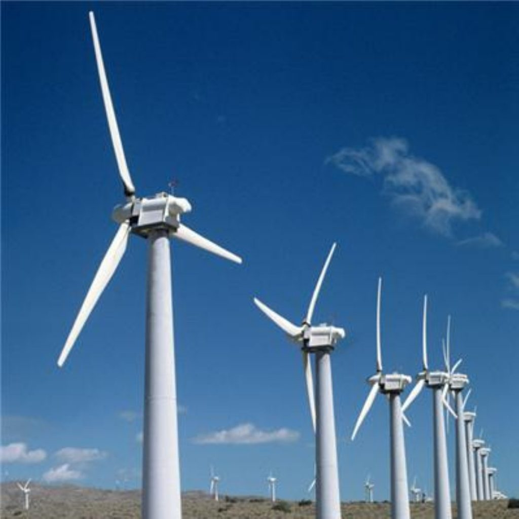 Off-shore wind farms are part of the government's renewable energy scheme