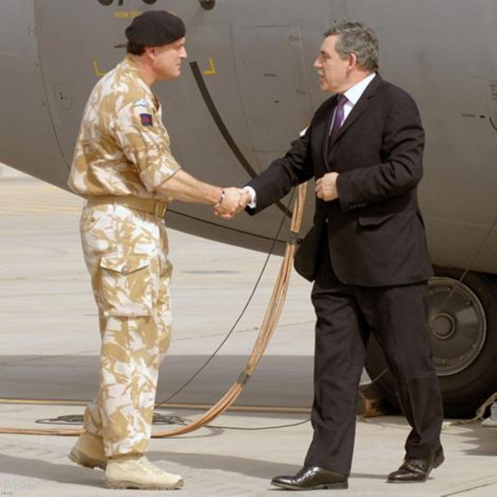 Gordon Brown will update MPs on his Basra trip