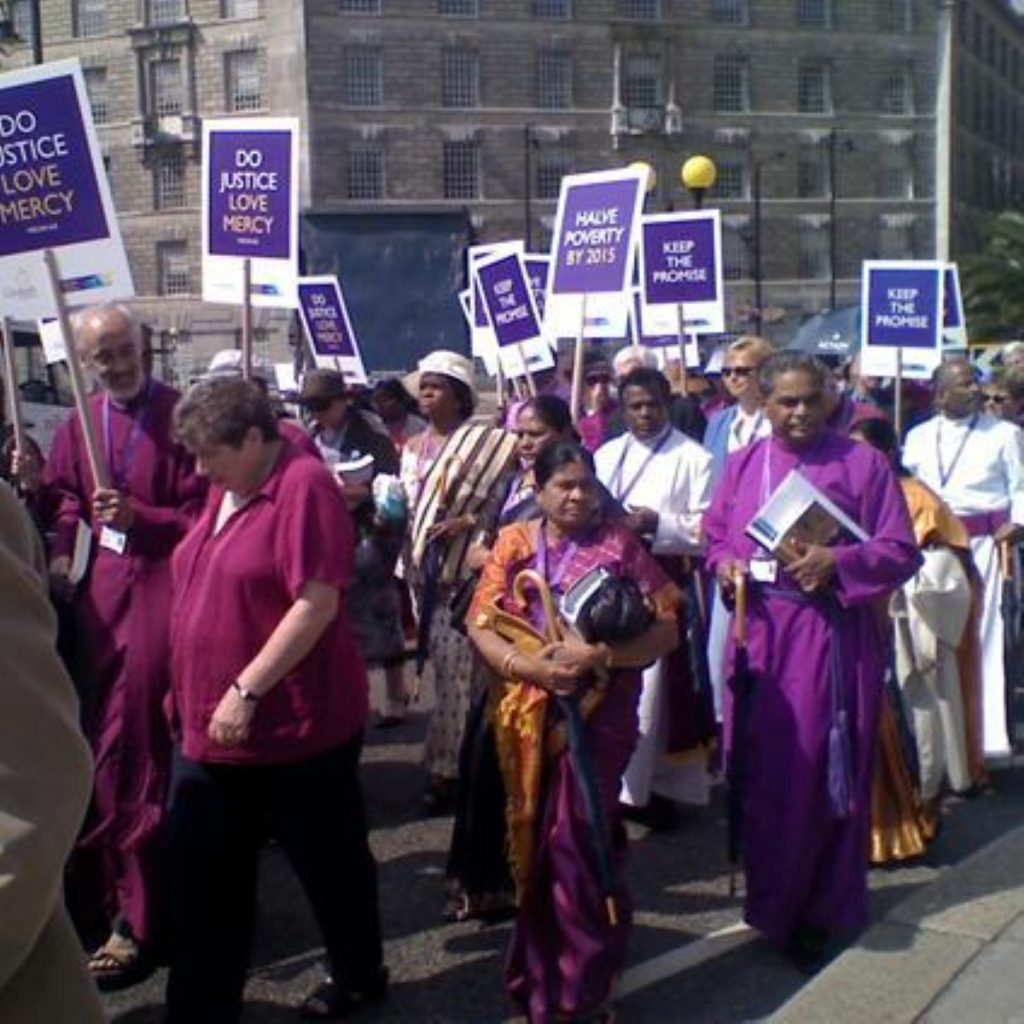 Anglican bishops march through London