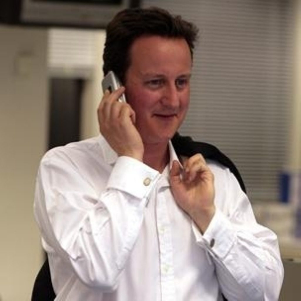 Mr Cameron says its time for an election
