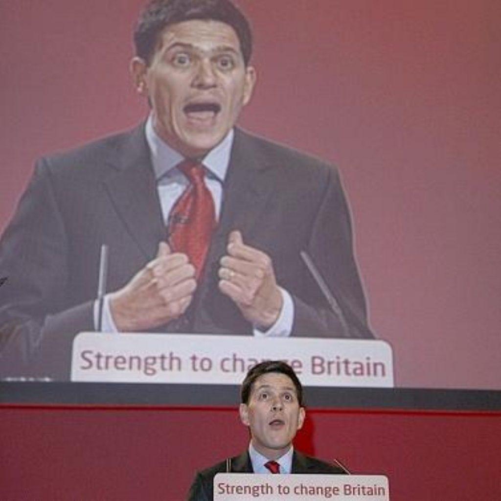 David Miliband backs Brown at conference