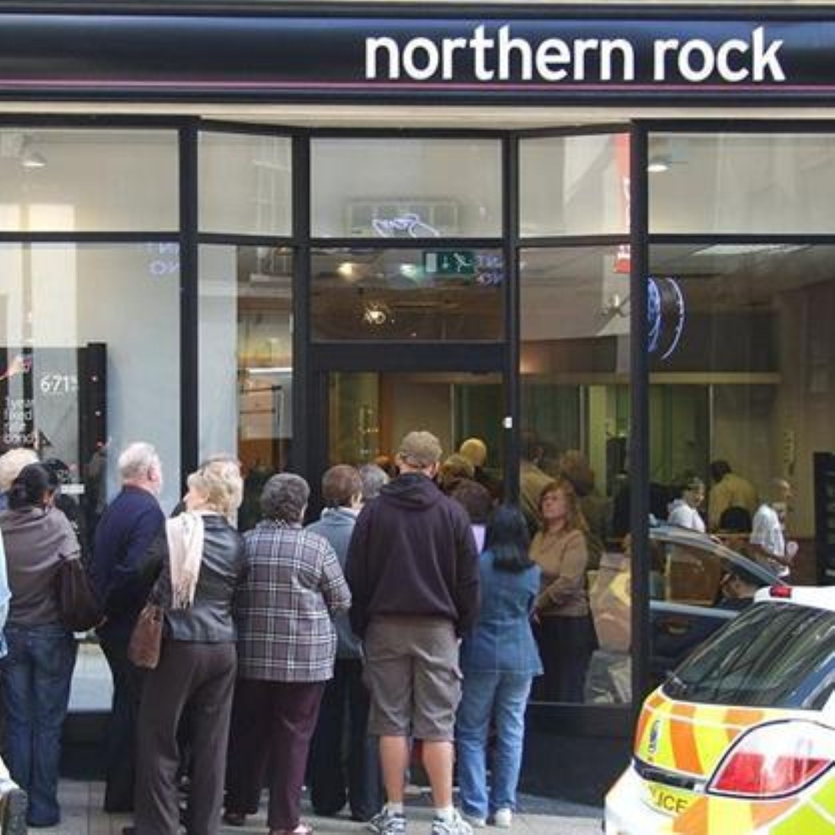 The news of Northern Rock's problems caused panic