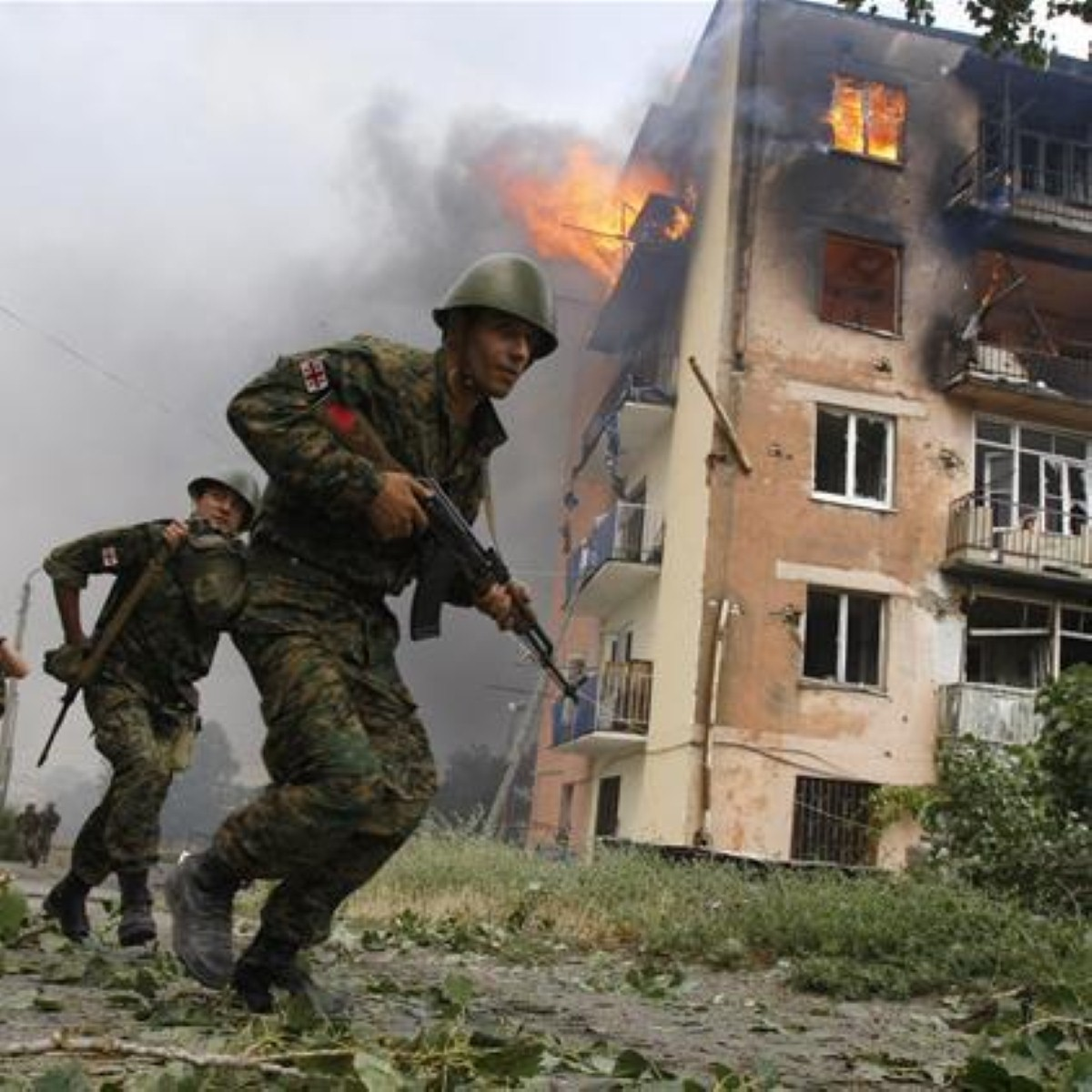Fighting in South Ossetia during last month's crisis