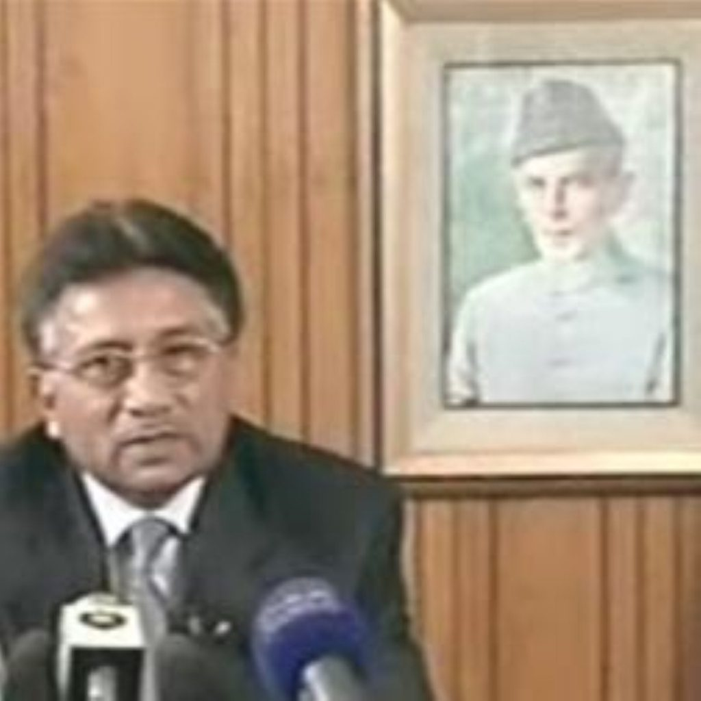 Pervez Musharraf resigned in a one-hour televised address to the nation