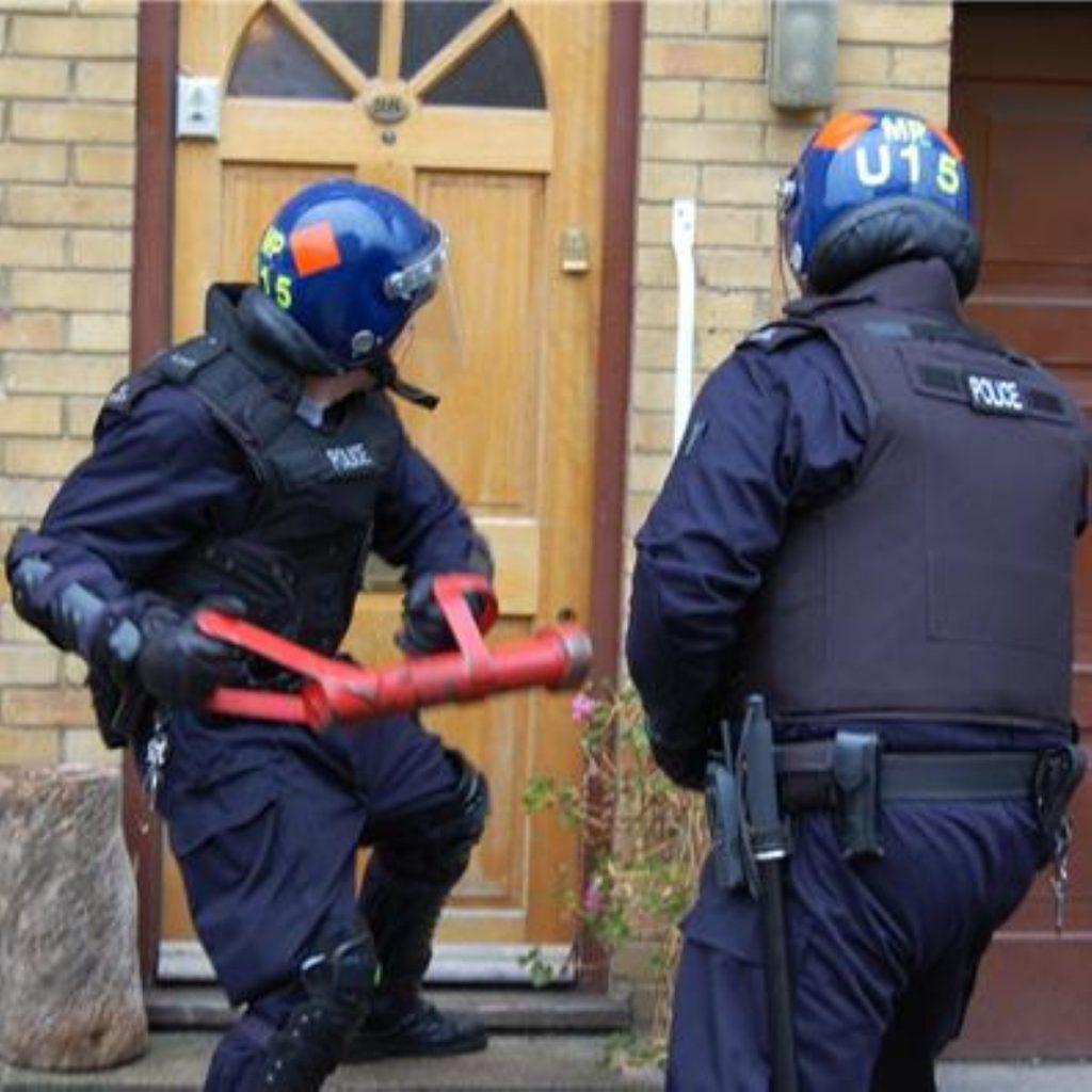 A Metropolitan police raid. Home Office lists 1,200 statutory powers of entry