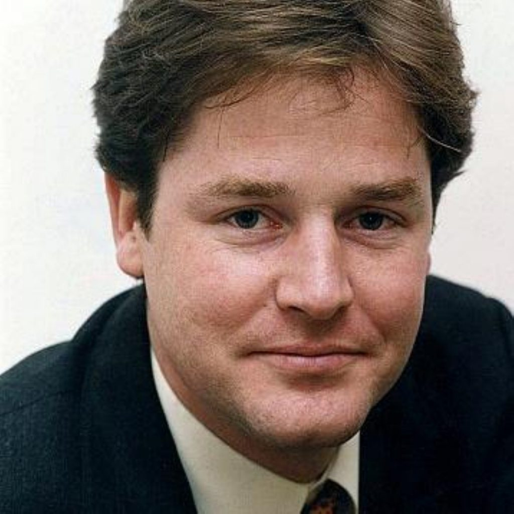Deputy prime minster Nick Clegg comments on executive salaries to the Andrew Marr programme