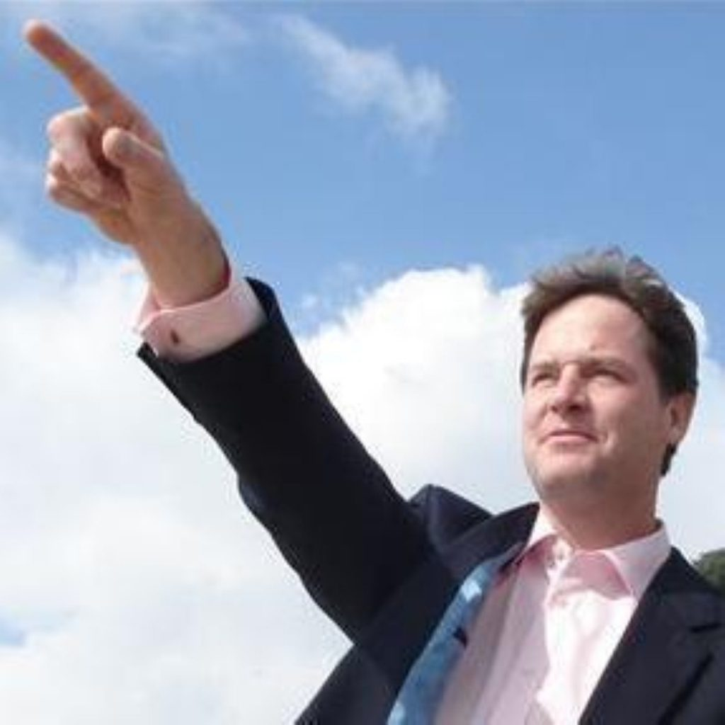 """Nick Clegg has entered the debate on """"progressive"""" politics today, launching a salvo against the Tories and Labour."""