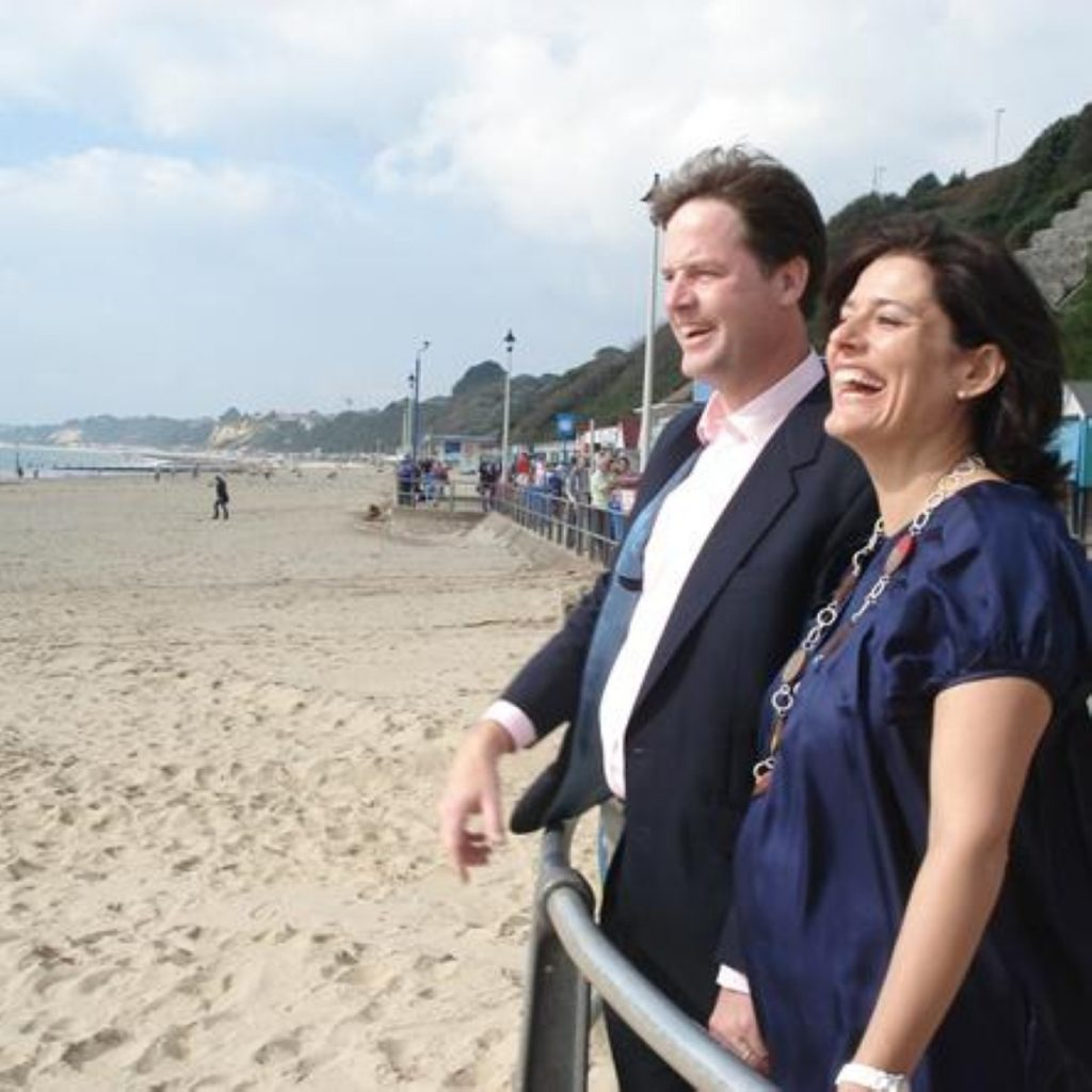 Mr Clegg and wife Miriam have had a third son over the weekend