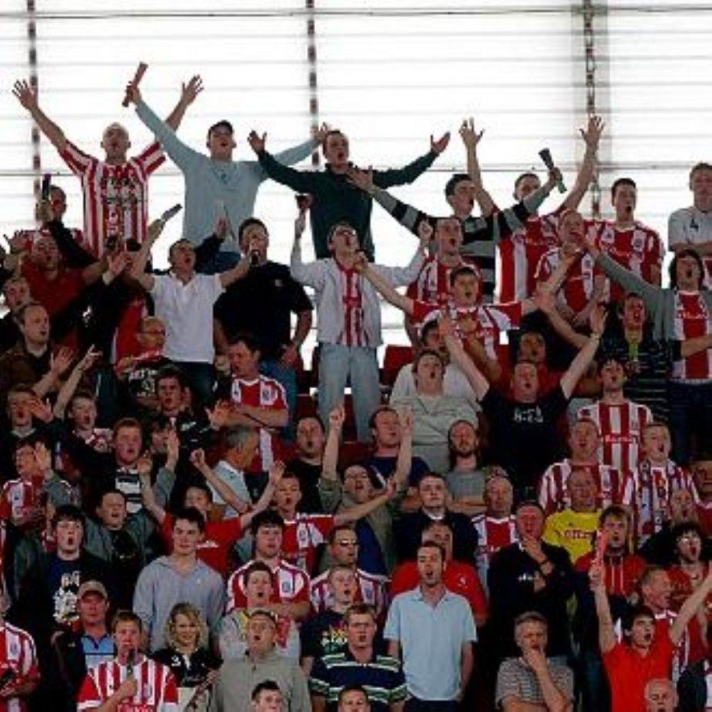 Stoke City fans at the Britannia Stadium