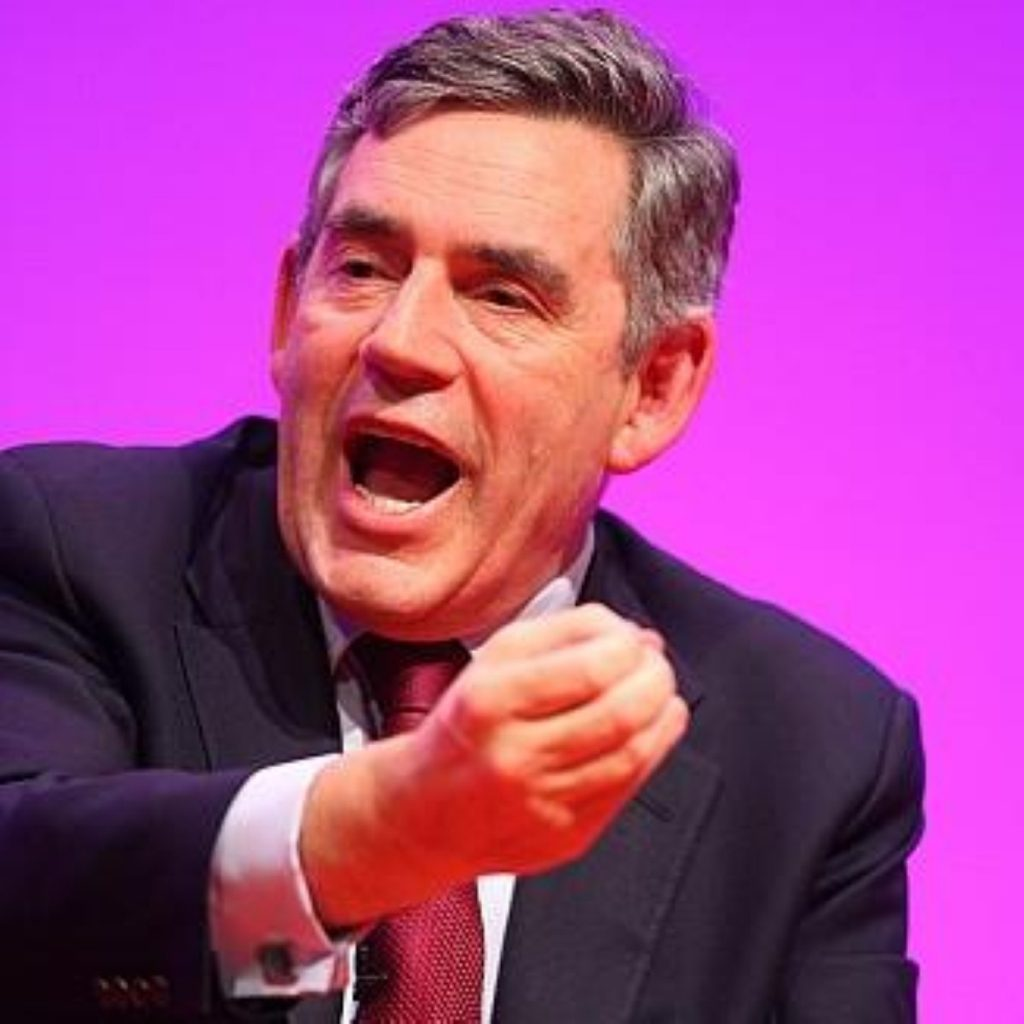 Gordon Brown delivers conference speech