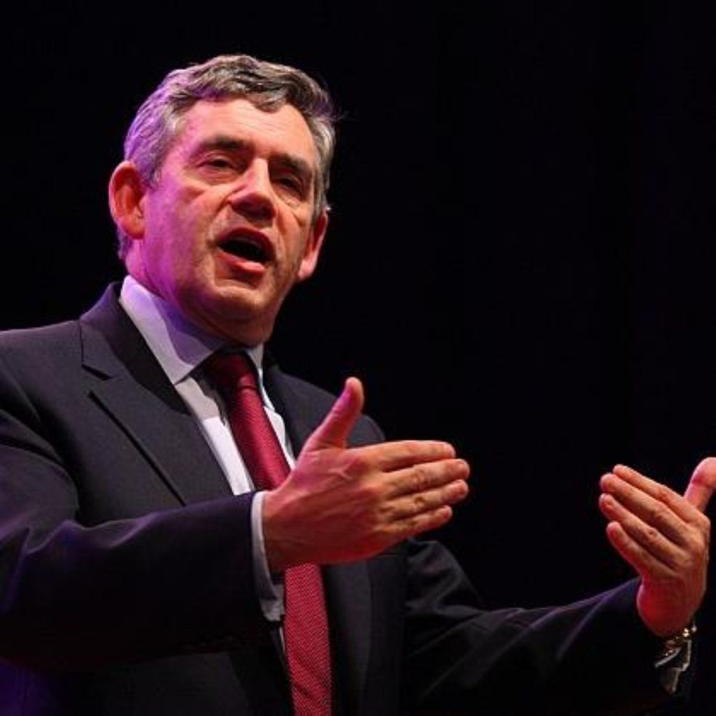 Gordon Brown said the reaction over the 10p tax rate hurt him