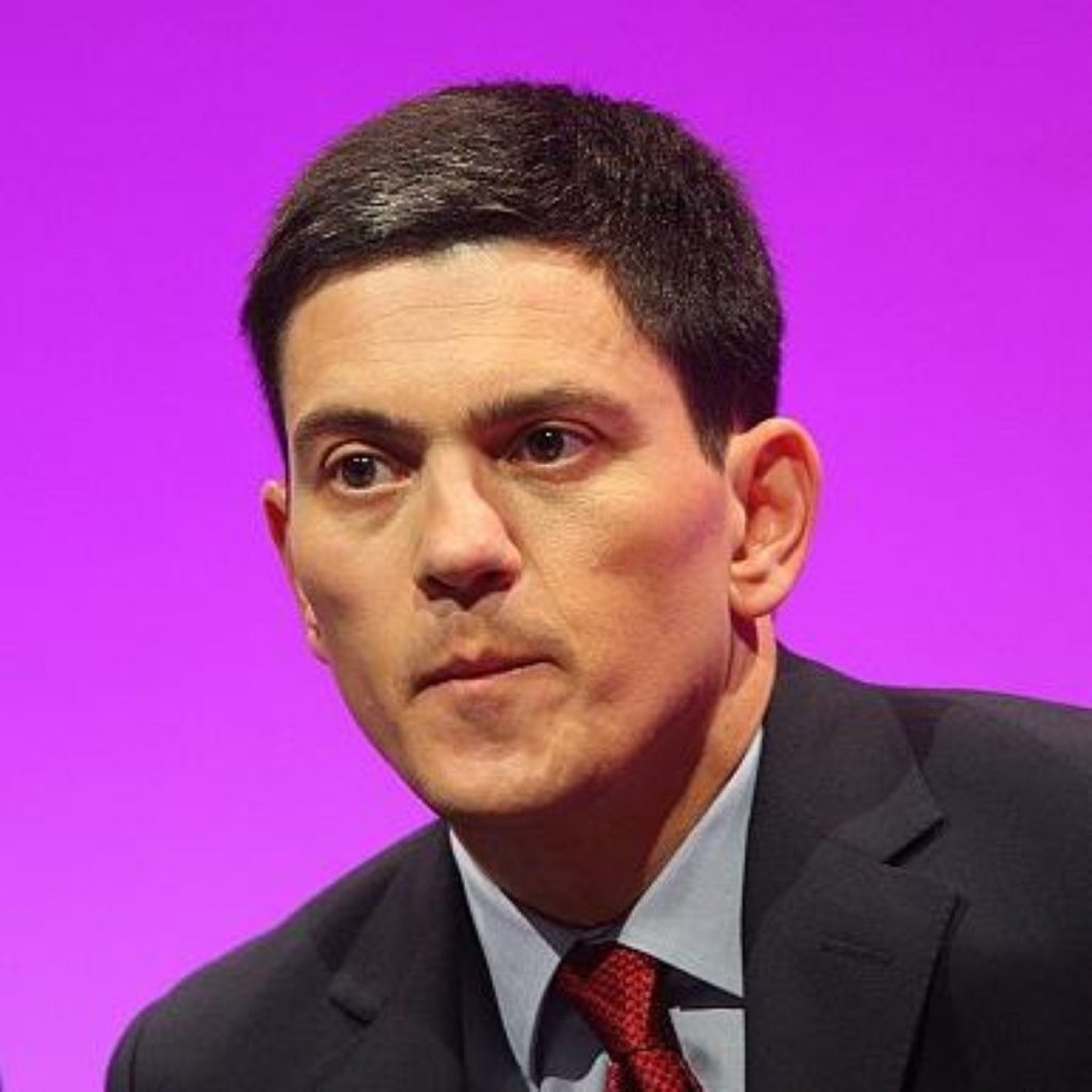 David Miliband continues to sit out frontbench politics