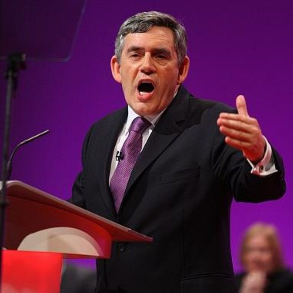 """Gordon Brown spoke passionately about his quest for a """"fairer society"""""""