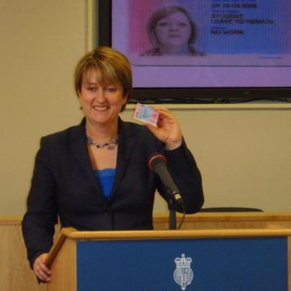 The first UK ID card has been unveiled by home secretary Jacqui Smith
