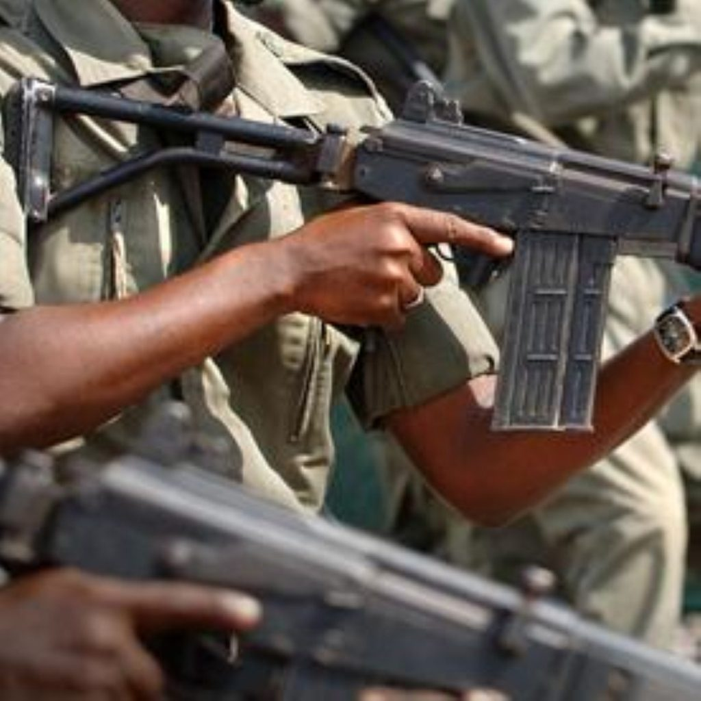 Armed police in Nigeria. Some parts of the country stone gay people to death.