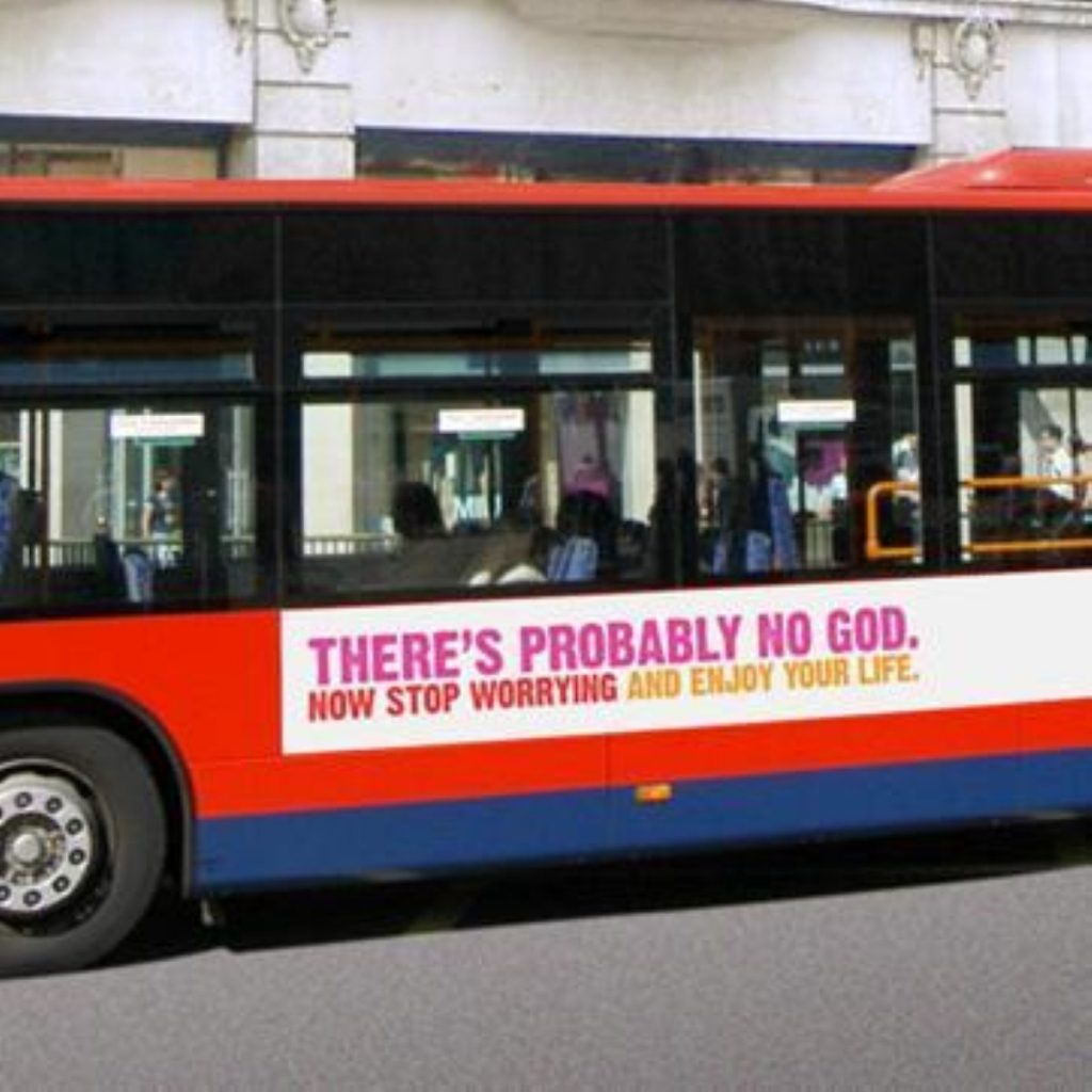 Calm down, atheists tell commuters