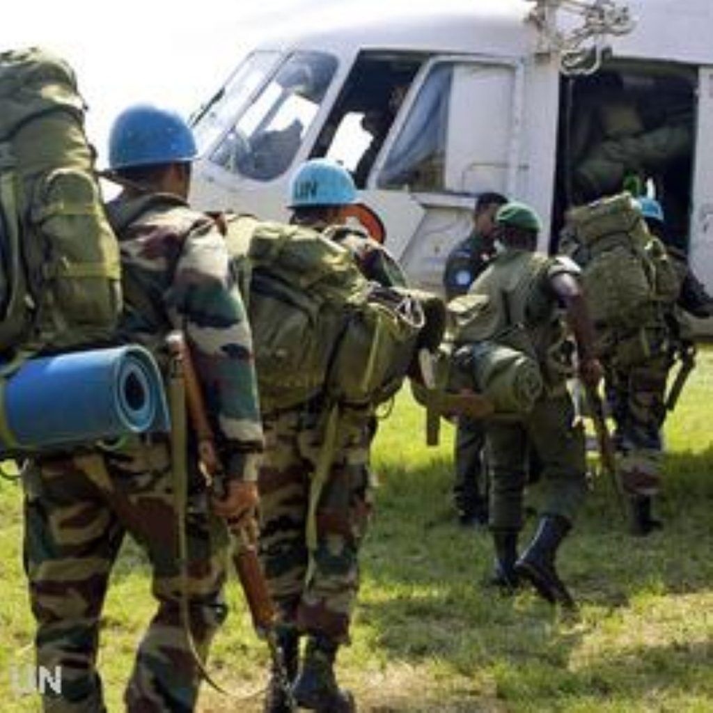 The EU battle group could help reinforce UN peacekeepers in DRC