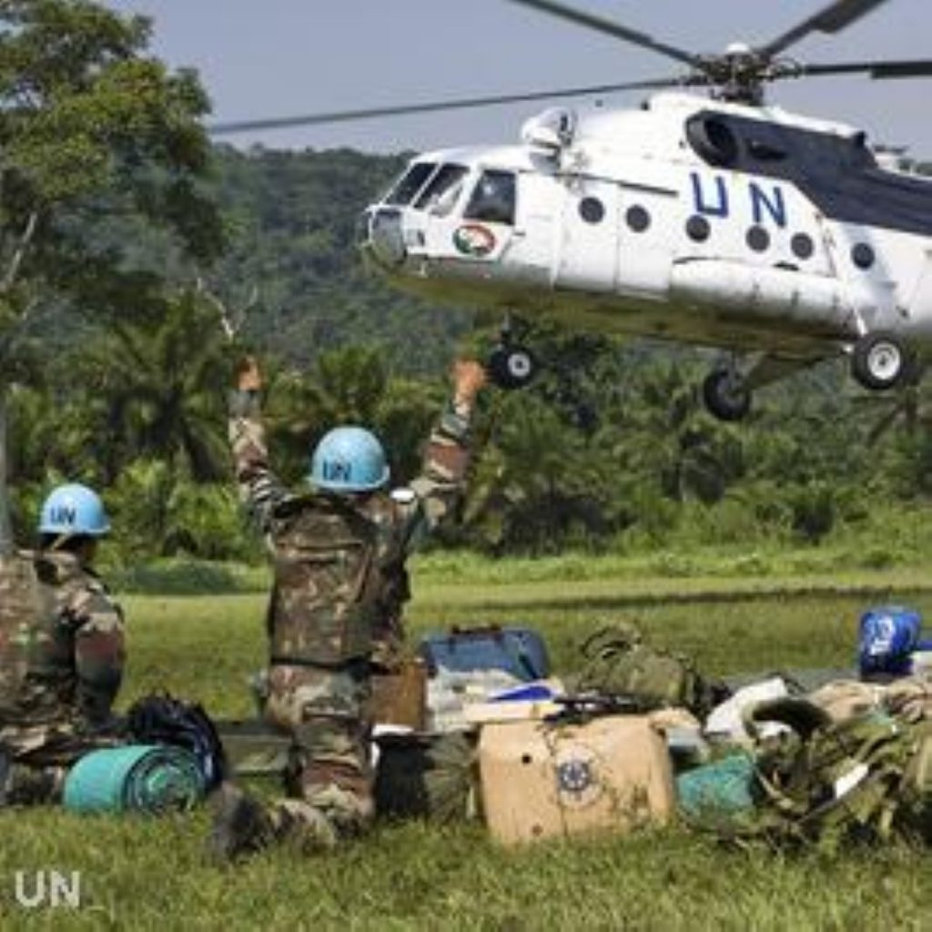 UN peacekeepers in the Congo