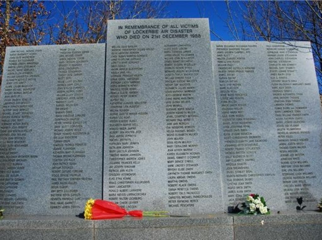 The memorial to the 270 victims of the Lockerbie bombing.