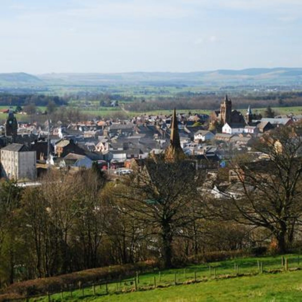 Lockerbie from above. The town has once again been the centre of international attention this month.