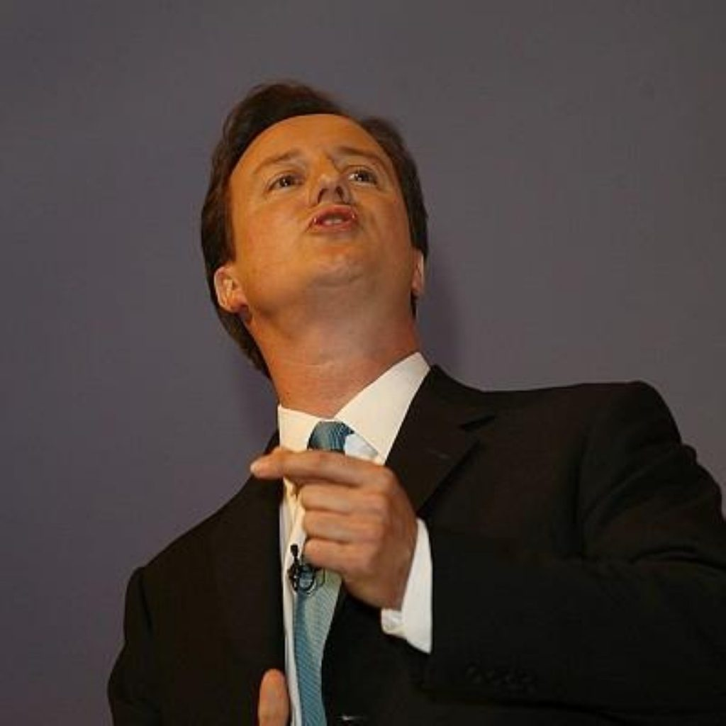 Cameron: Law and order on the economy