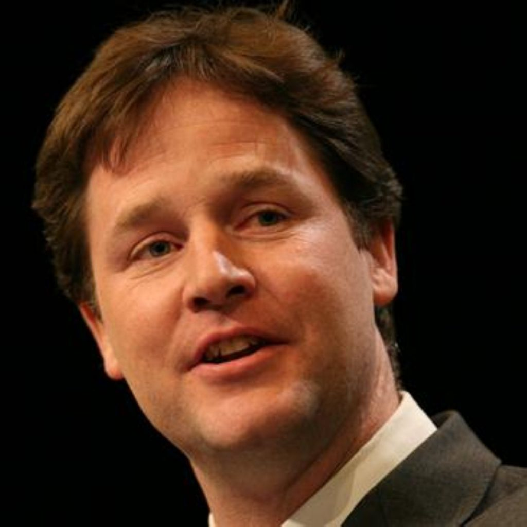 Clegg called youth unemployment a 'human tragedy'