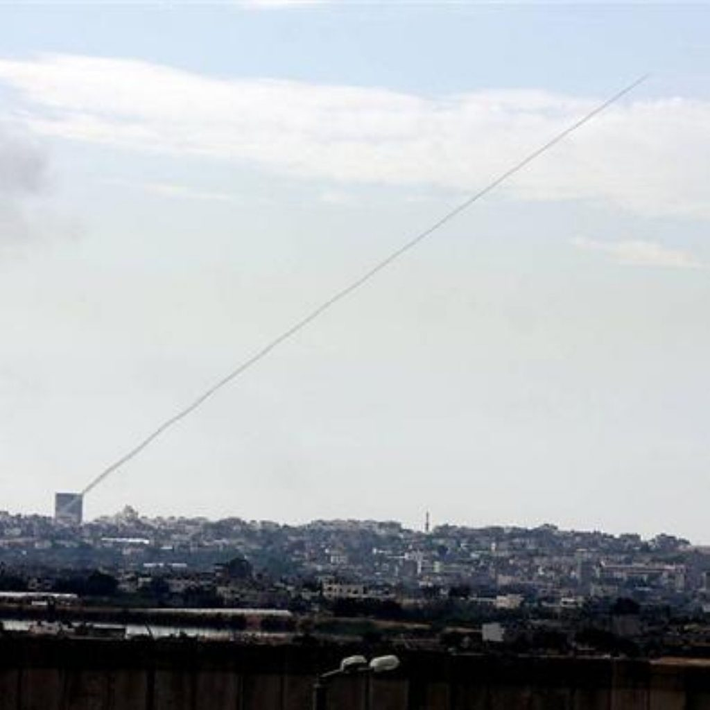 Israel continues air strikes on Gaza Strip for third day as ground forces swell on border