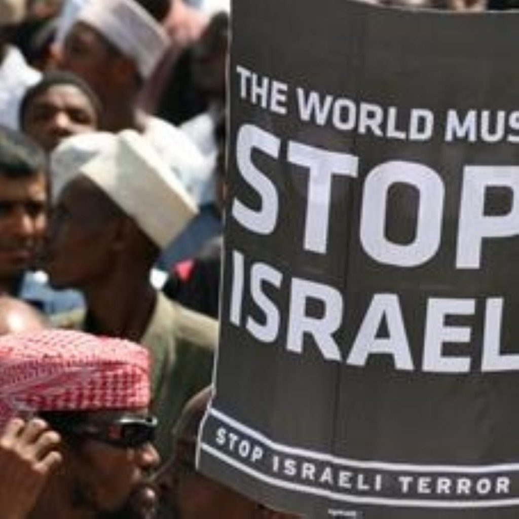 Anti-Israel protests have been sparked by the renewed fighting in the Middle East